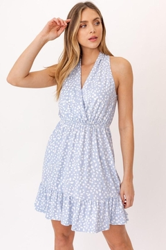 Gilli Baby Blue Spotted Dress - Product List Image