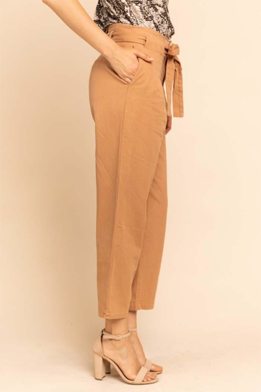 Gilli Belted Salmon Pants - Front Full Image