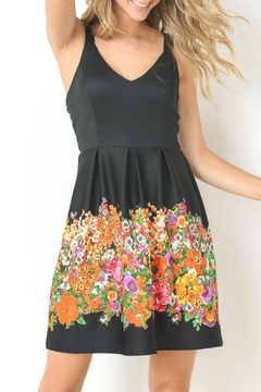 Gilli Black Floral Dress - Product List Image