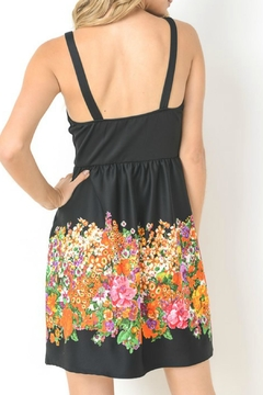 Gilli Black Floral Dress - Alternate List Image