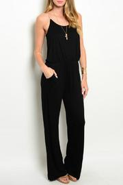 Gilli Black Jumpsuit - Front cropped