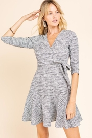 Gilli Black & White Wrap Dress - Product Mini Image