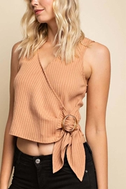 Gilli Buckle Tie Top - Product Mini Image