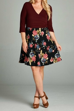 Gilli Burgundy Floral Dress - Alternate List Image