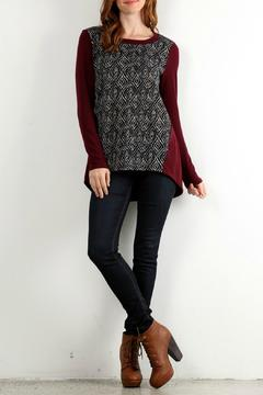 Shoptiques Product: Burgundy Printed Top