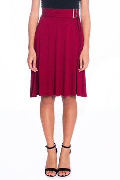 Shoptiques Product: Burgundy Wrap Skirt