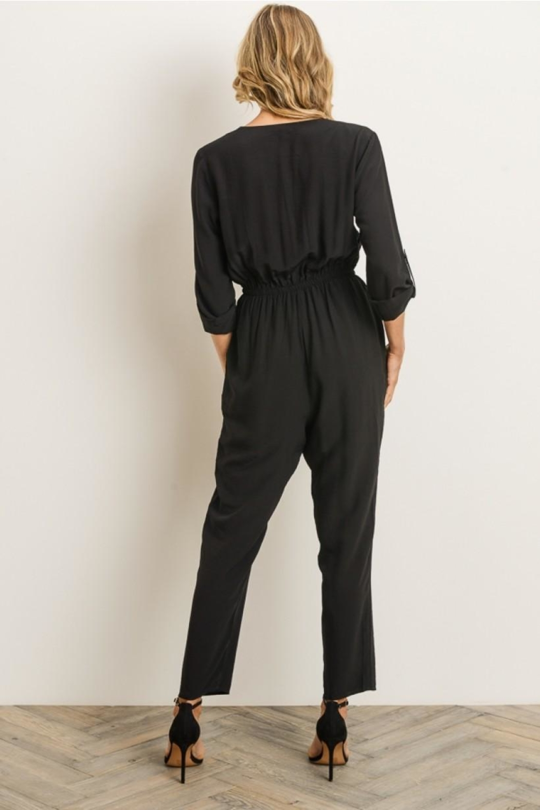 Gilli Button Front Jumpsuit - Front Full Image