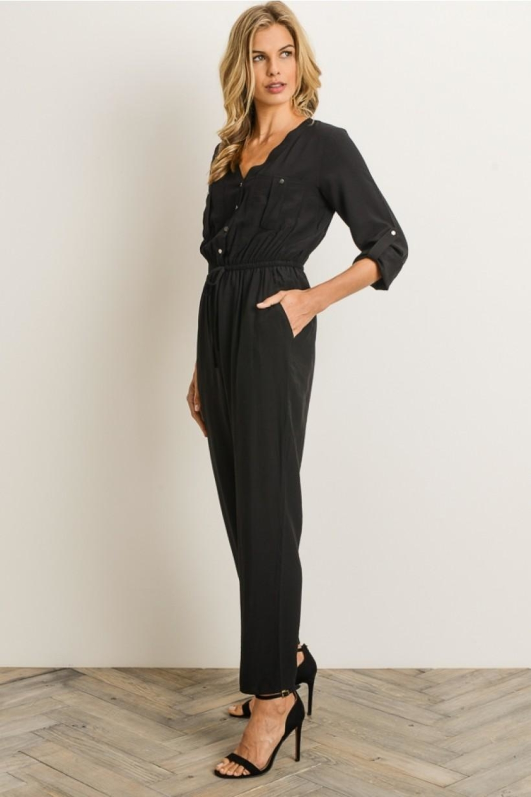 Gilli Button Front Jumpsuit - Side Cropped Image