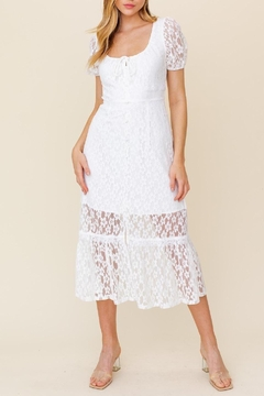 Gilli Camille Vintage Lace Midi Dress - Product List Image