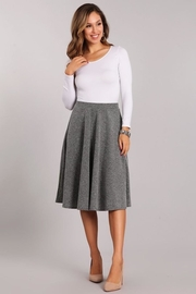 Chris & Carol Charcoal Flare Skirt - Front cropped
