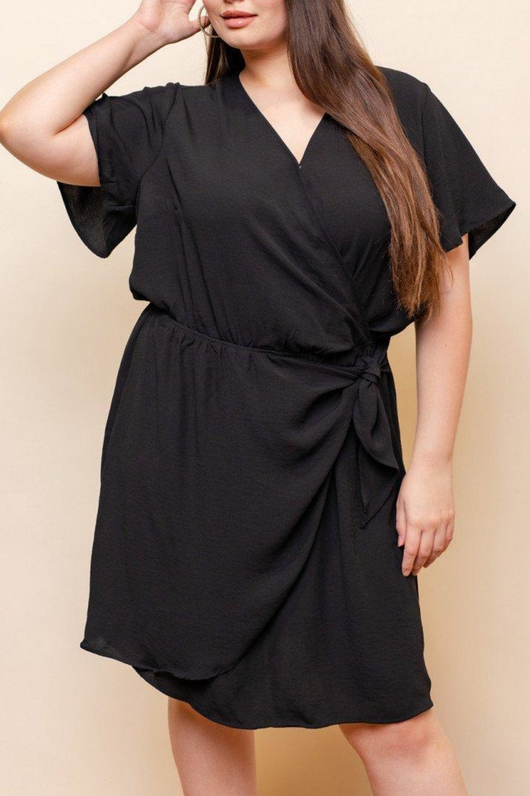 Gilli Chic Drape Dress - Front Cropped Image