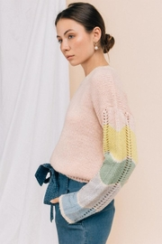 Gilli Color-Block Sleeve Sweater - Product Mini Image
