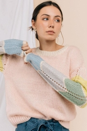 Gilli Color-Block Sleeve Sweater - Front full body