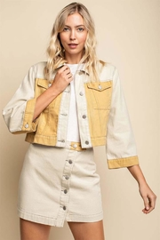 Gilli Colorblock Denim Jacket - Product Mini Image