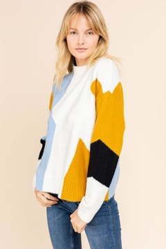 Shoptiques Product: Colorblock Pullover Sweater