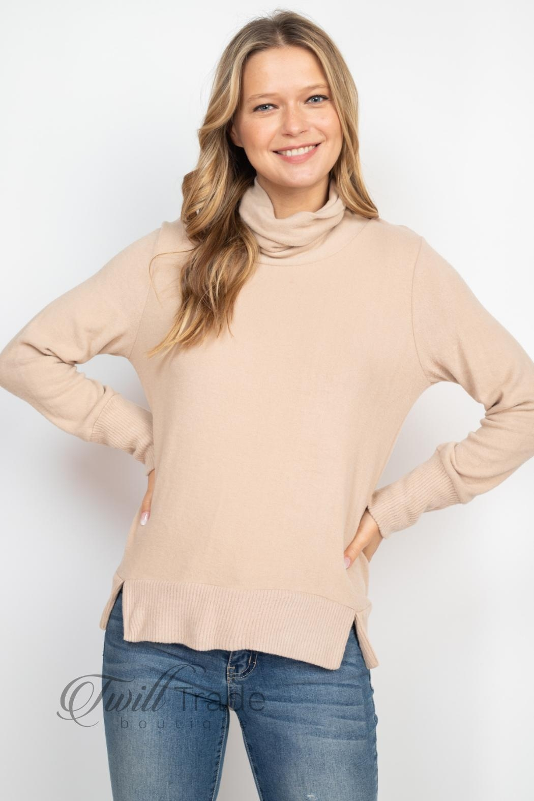 Gilli Cowl Neck Sweater - Front Full Image