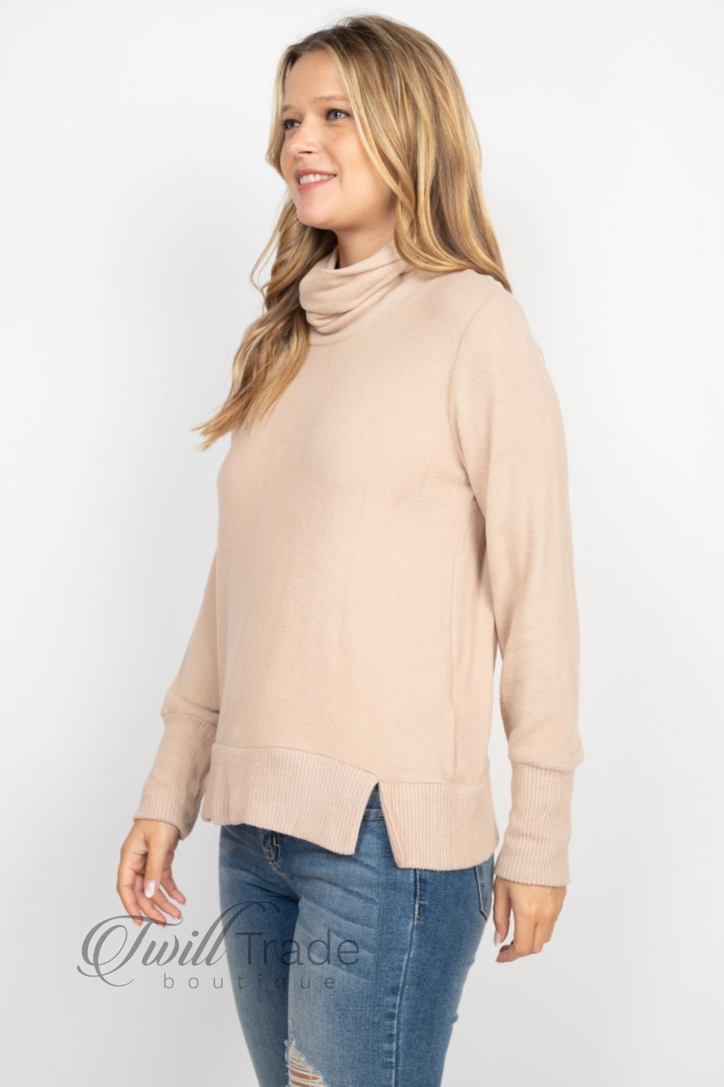 Gilli Cowl Neck Sweater - Side Cropped Image