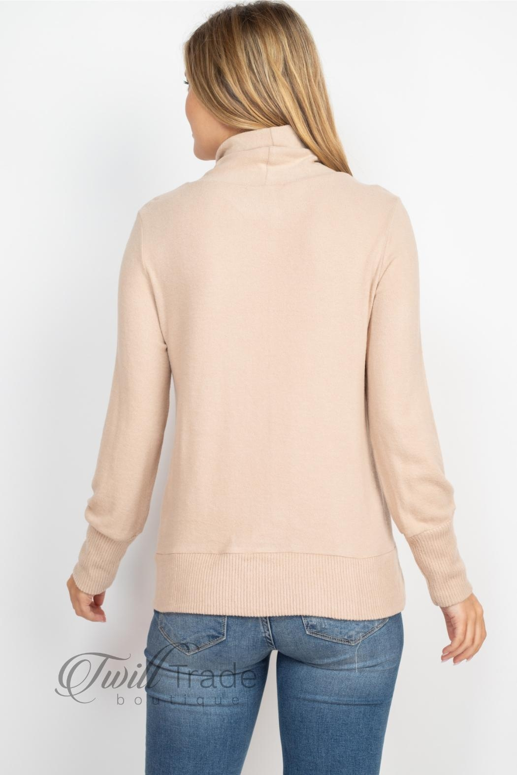 Gilli Cowl Neck Sweater - Back Cropped Image