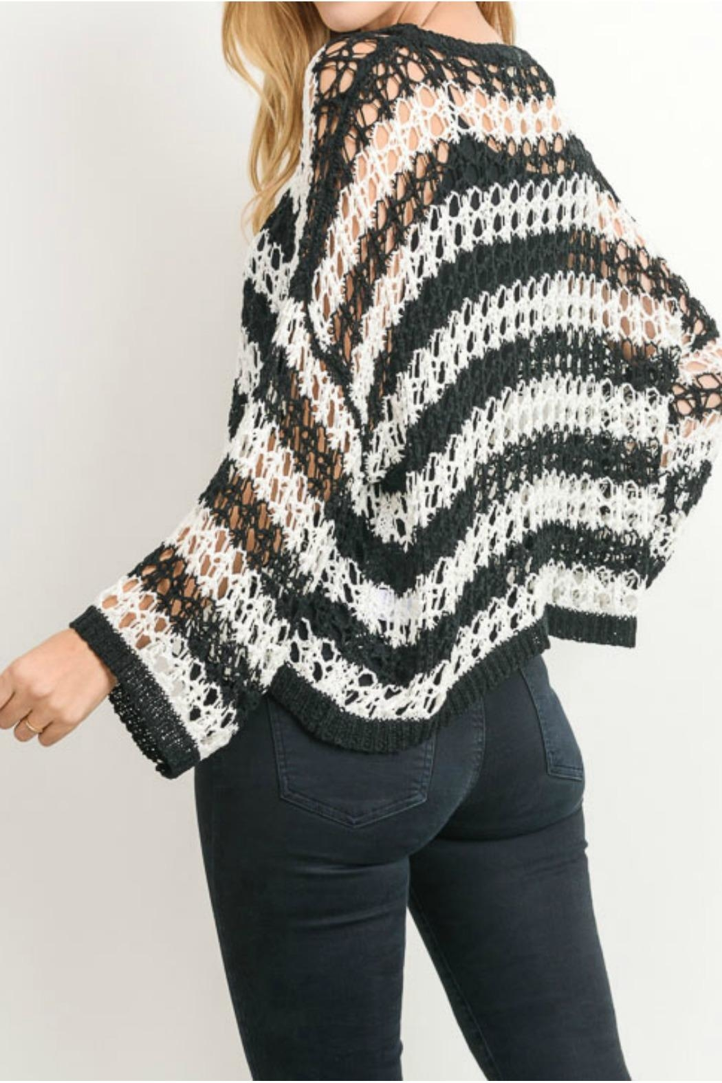Gilli Crochet Sweater - Side Cropped Image