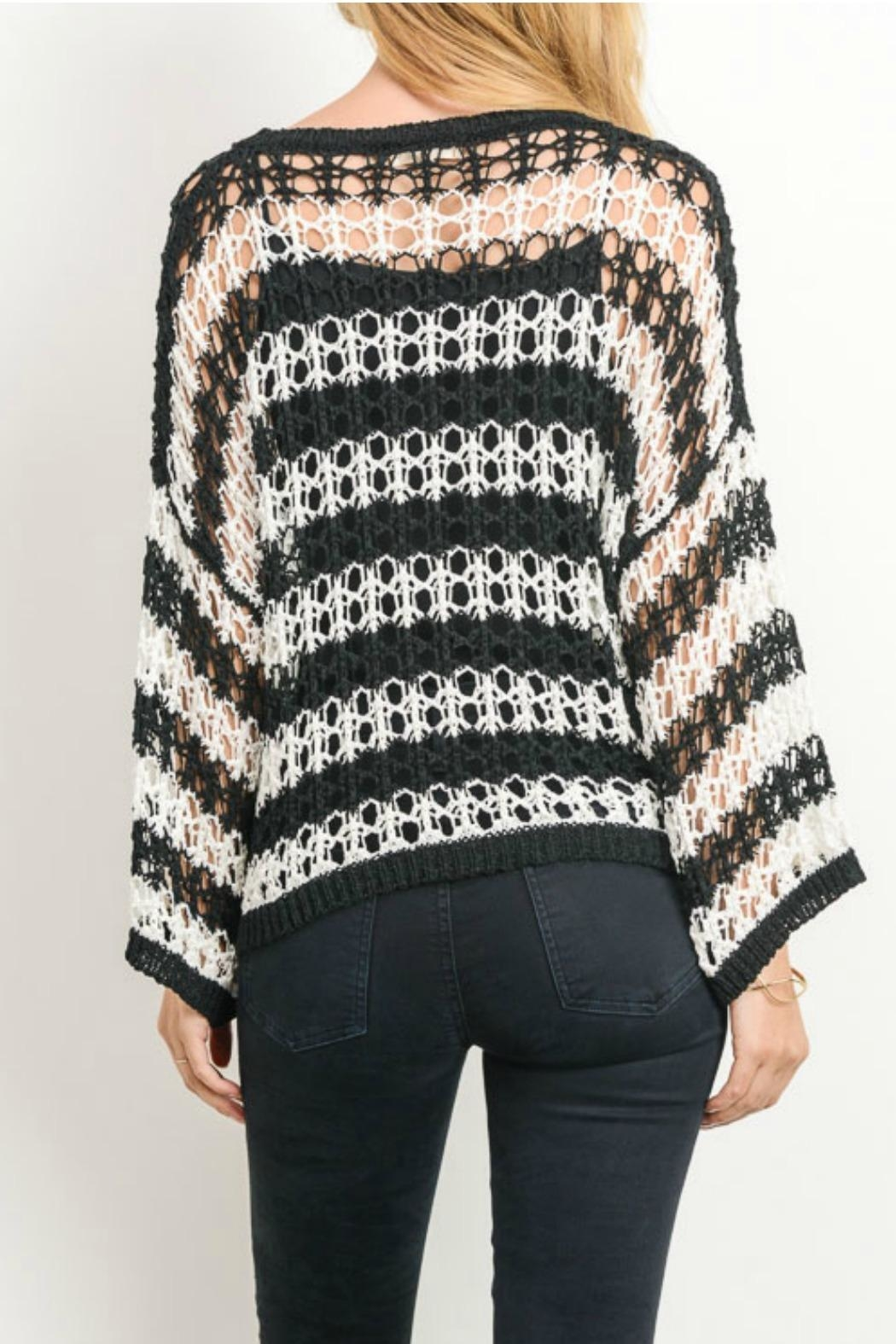 Gilli Crochet Sweater - Back Cropped Image