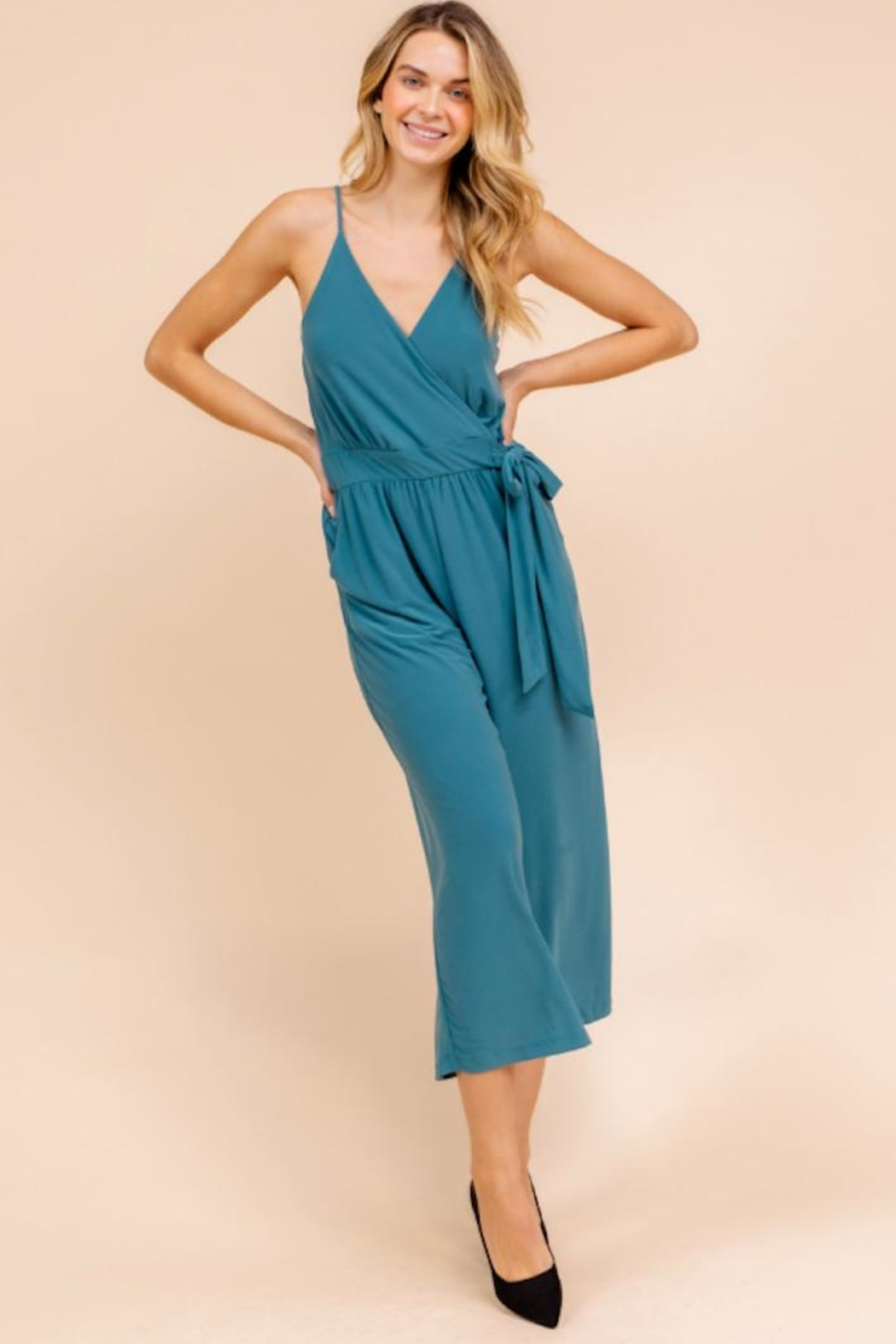 Gilli Cropped Jumpsuit - Front Full Image