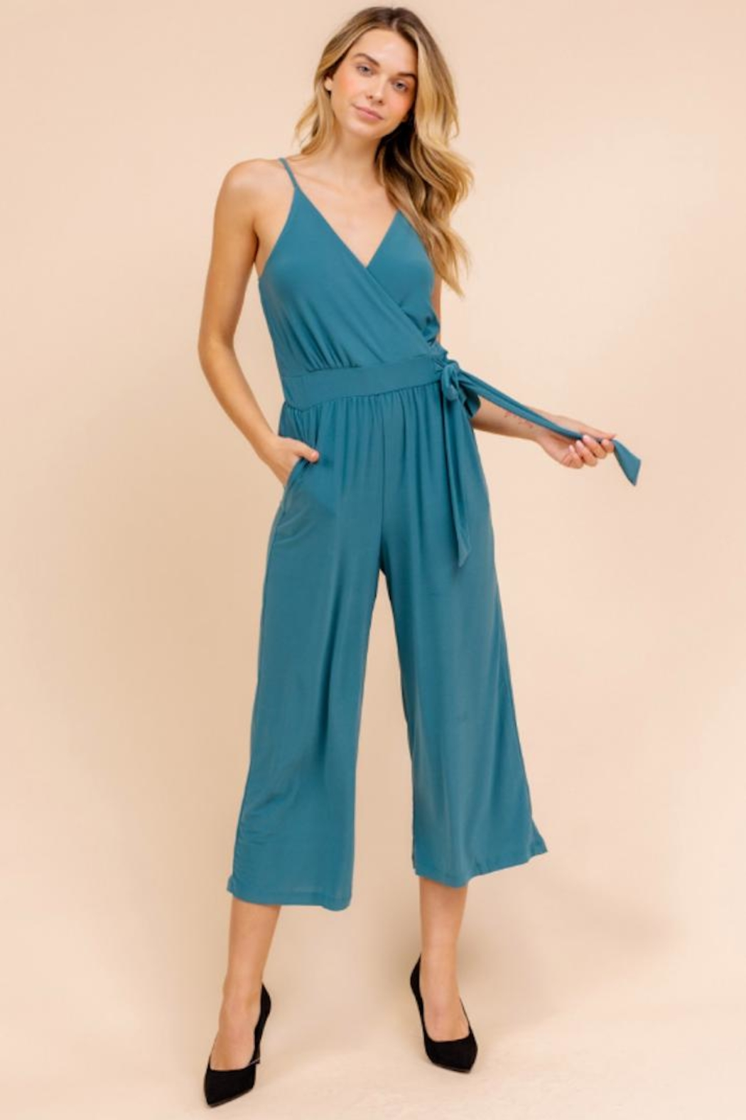 Gilli Cropped Jumpsuit - Main Image