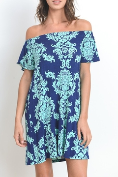 Gilli Damask Off Shoulder Dress - Product List Image