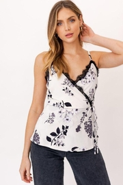 Gilli Faux Wrap Cami With Lace - Product Mini Image