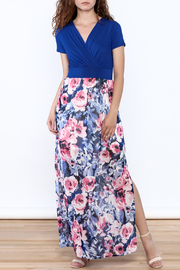 Gilli Blue Floral Maxi Dress - Front full body