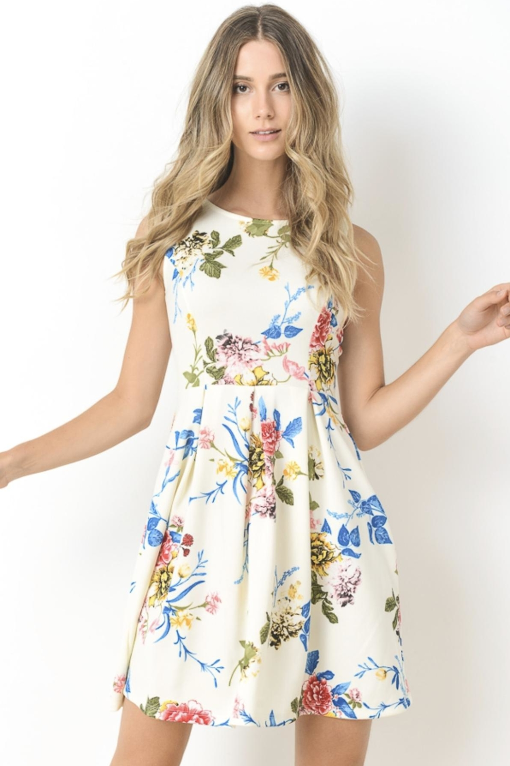 Gilli Floral Fit-And-Flare - Main Image