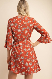 Gilli Floral Wrap Dress - Back cropped