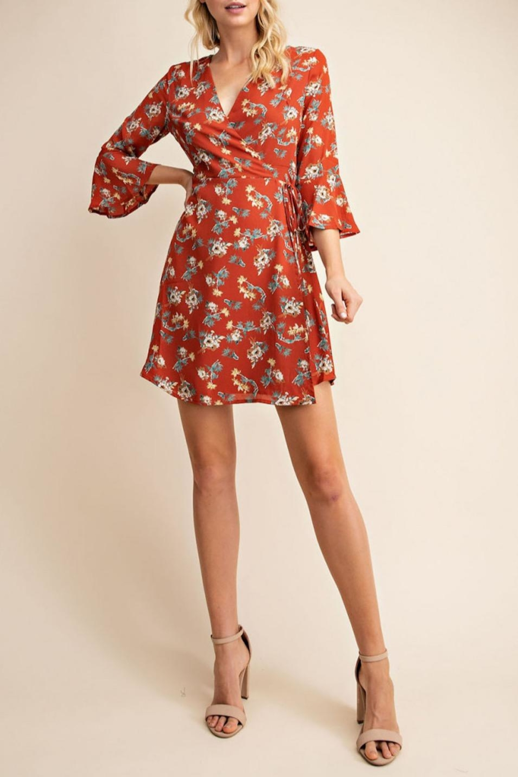 Gilli Floral Wrap Dress - Front Cropped Image