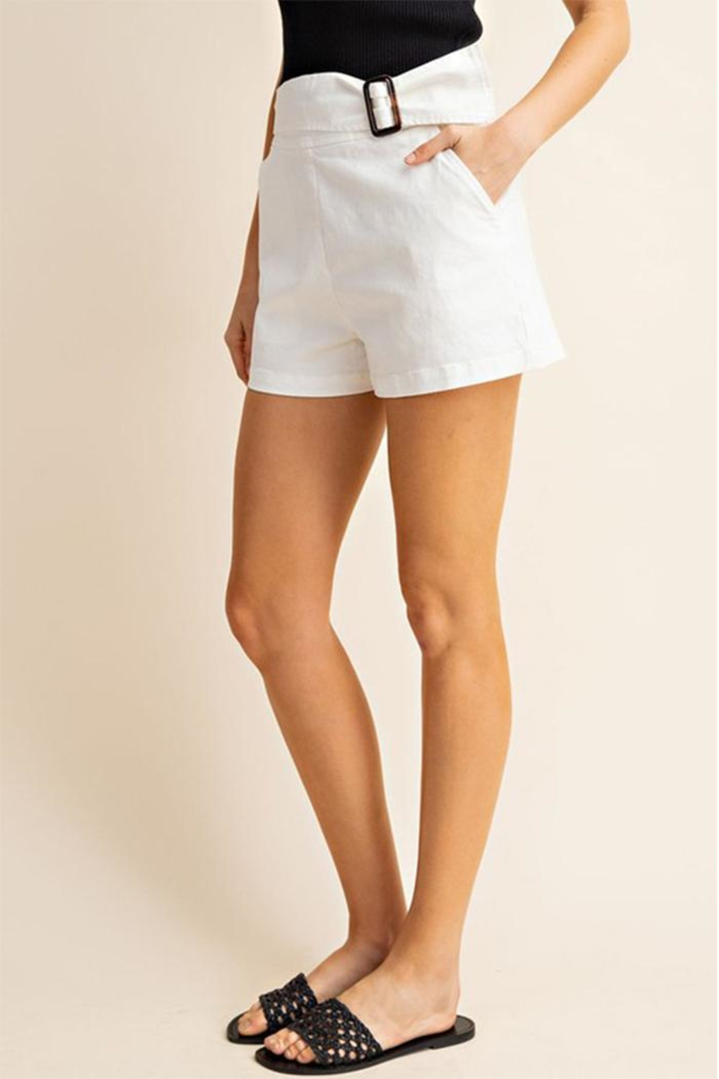 Gilli Front Buckle Shorts - Front Full Image