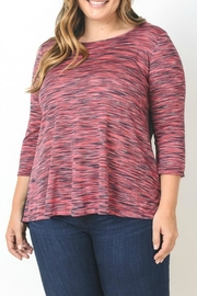 Gilli Fuschia Patterned Top - Front cropped