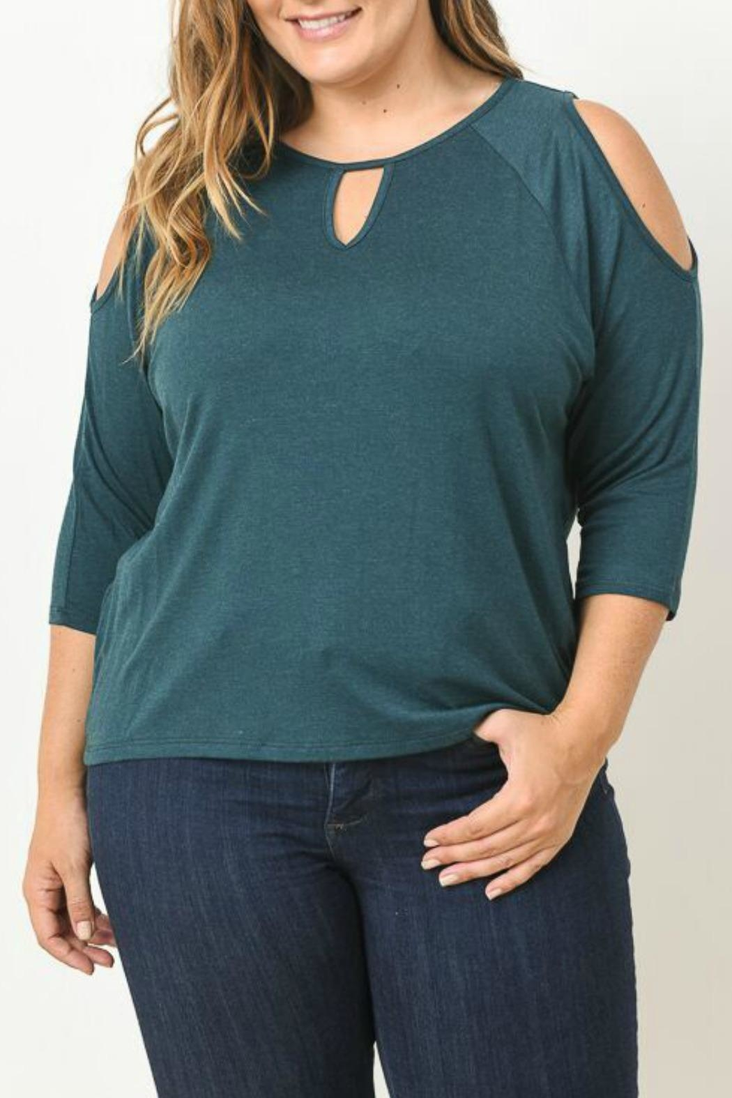 Gilli Green Cut Out Blouse - Main Image