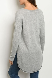 Gilli Grey Relaxed Tunic - Front full body