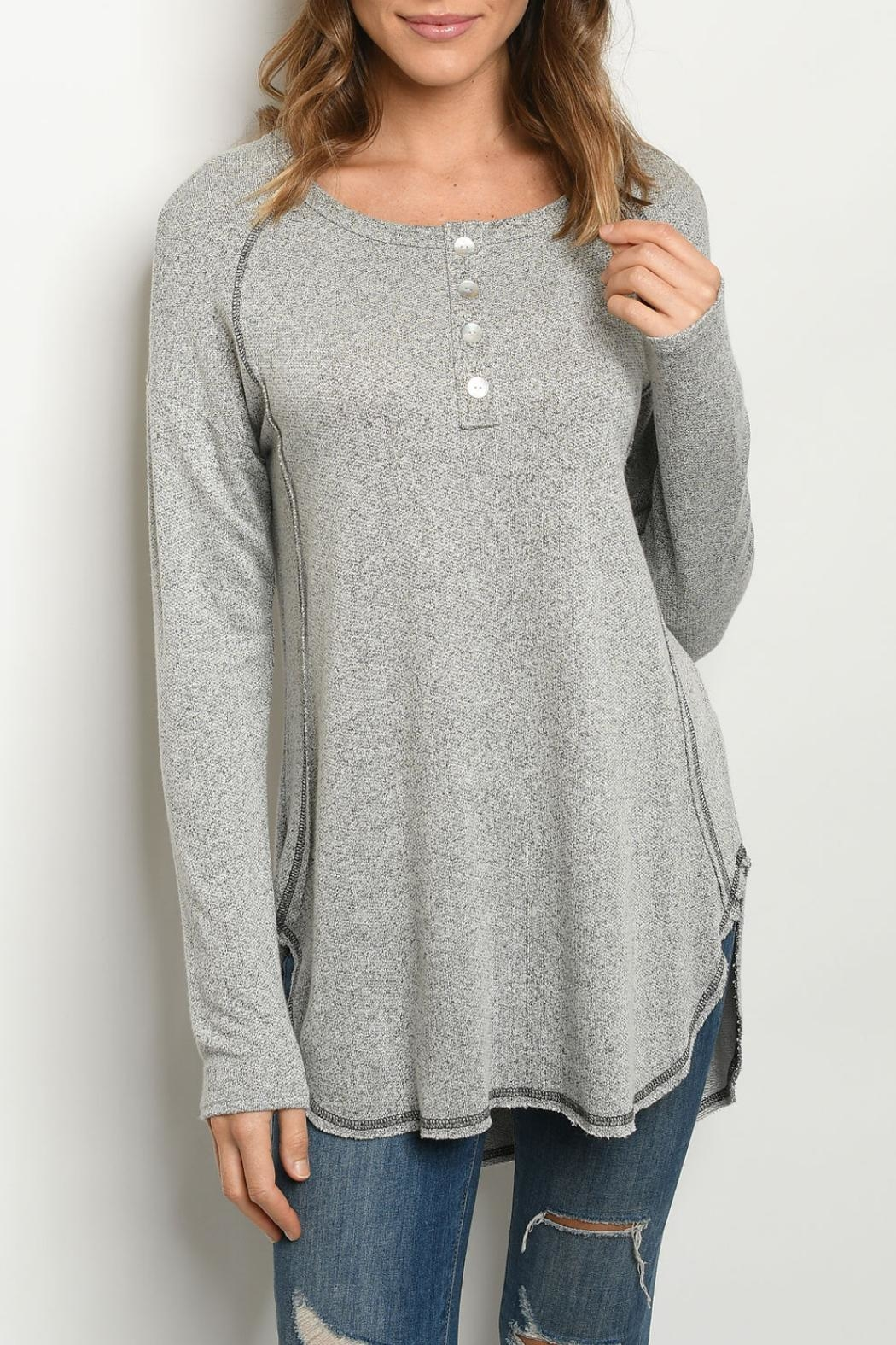 Gilli Grey Relaxed Tunic - Main Image