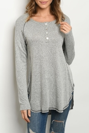 Gilli Grey Relaxed Tunic - Front cropped