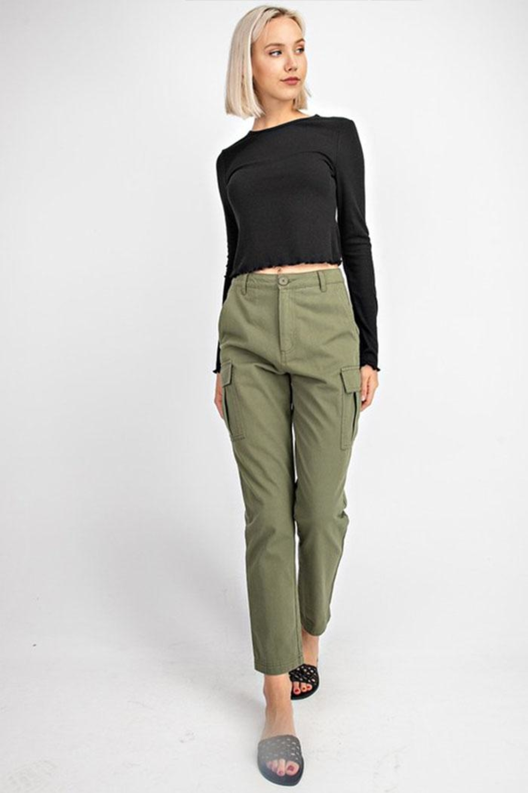 Gilli High-Waisted Cargo Pants - Front Full Image