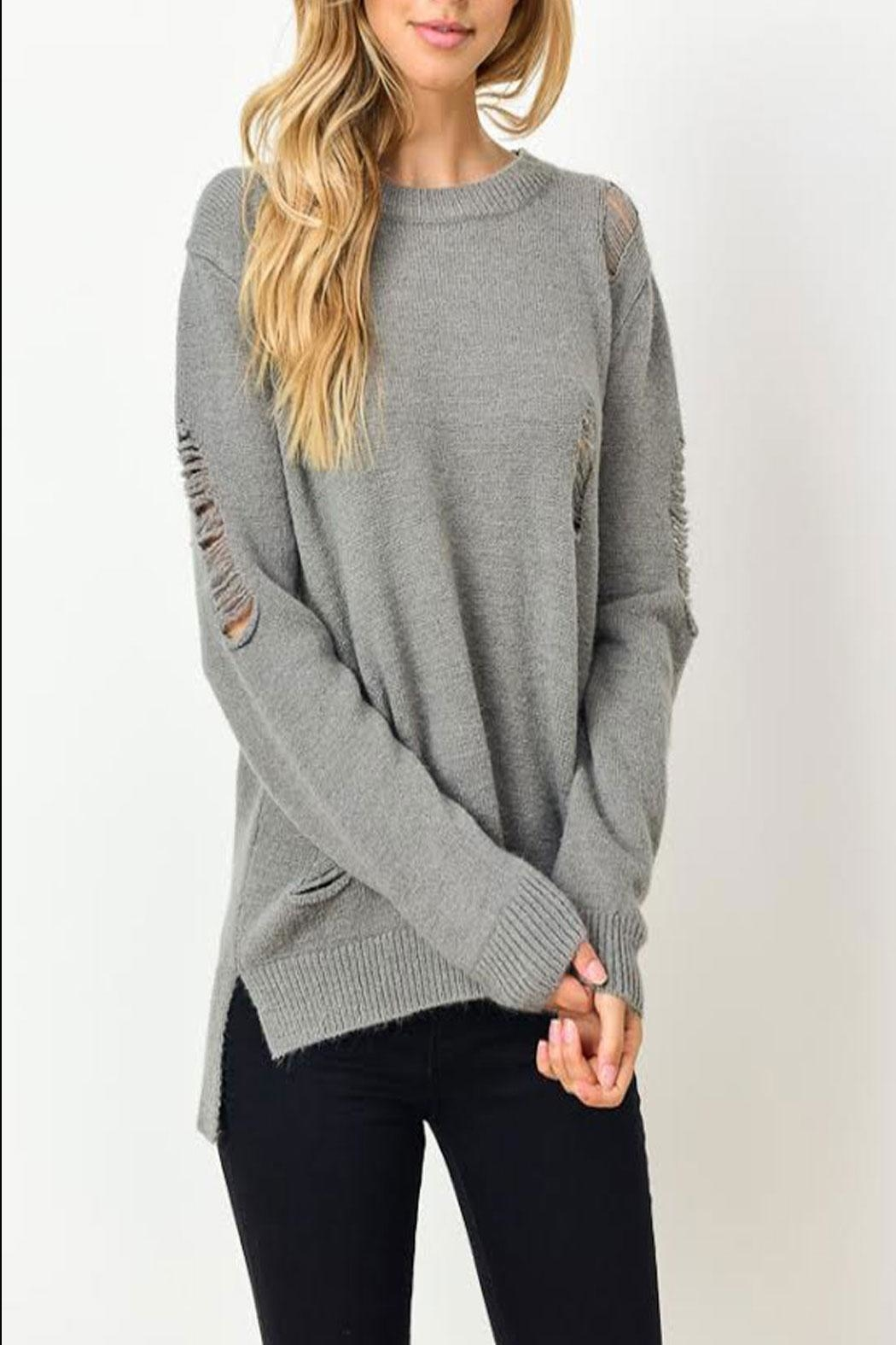 Gilli Kinsley Distressed Sweater - Front Full Image