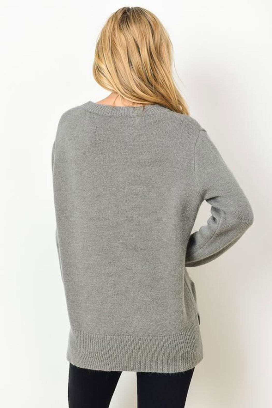 Gilli Kinsley Distressed Sweater - Side Cropped Image