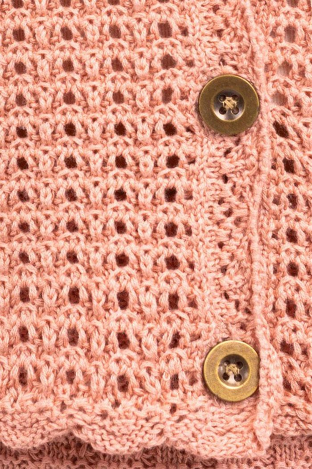 Gilli Knit Crochet Cardigan - Back Cropped Image