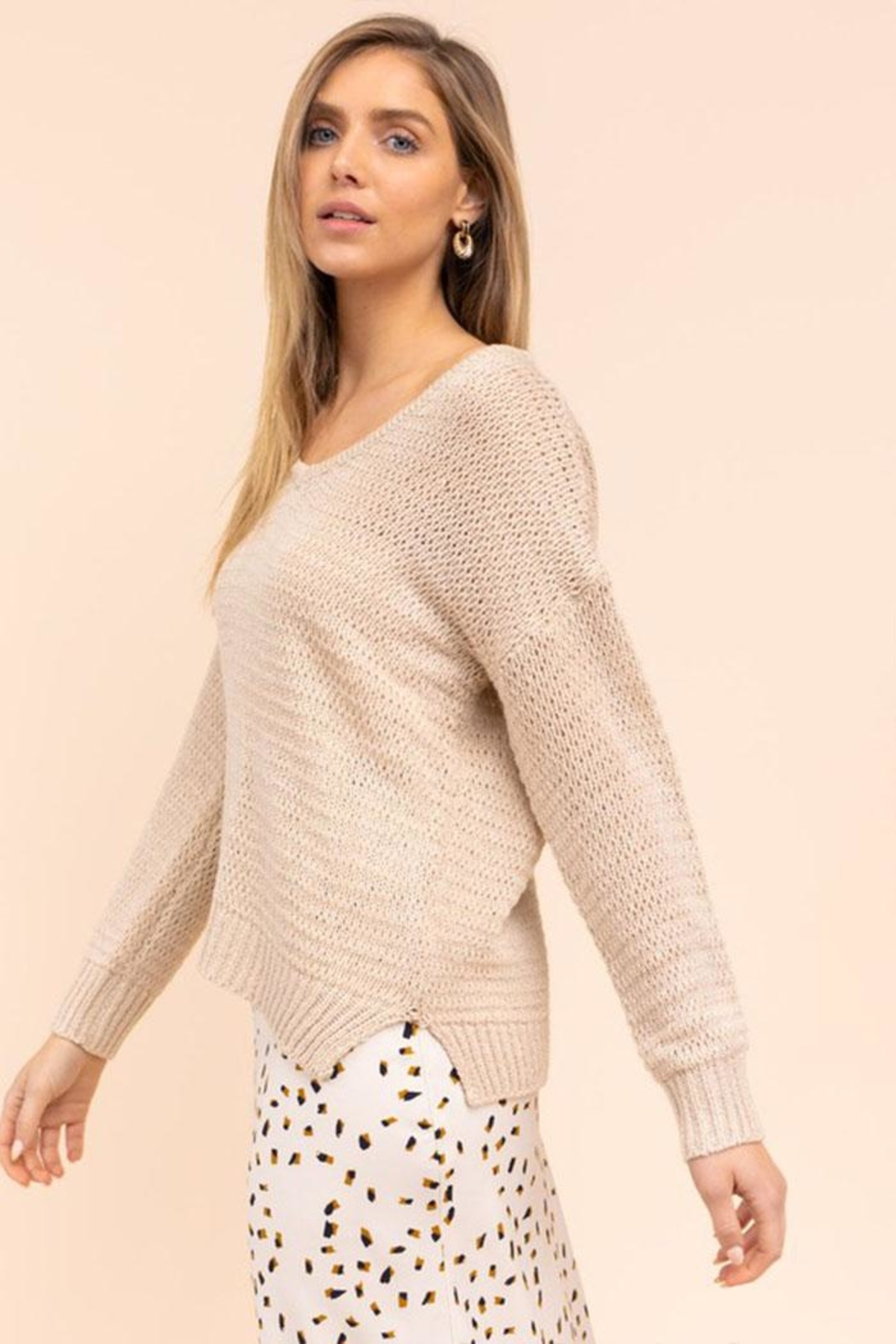 Gilli Loose Knit Sweater - Front Full Image