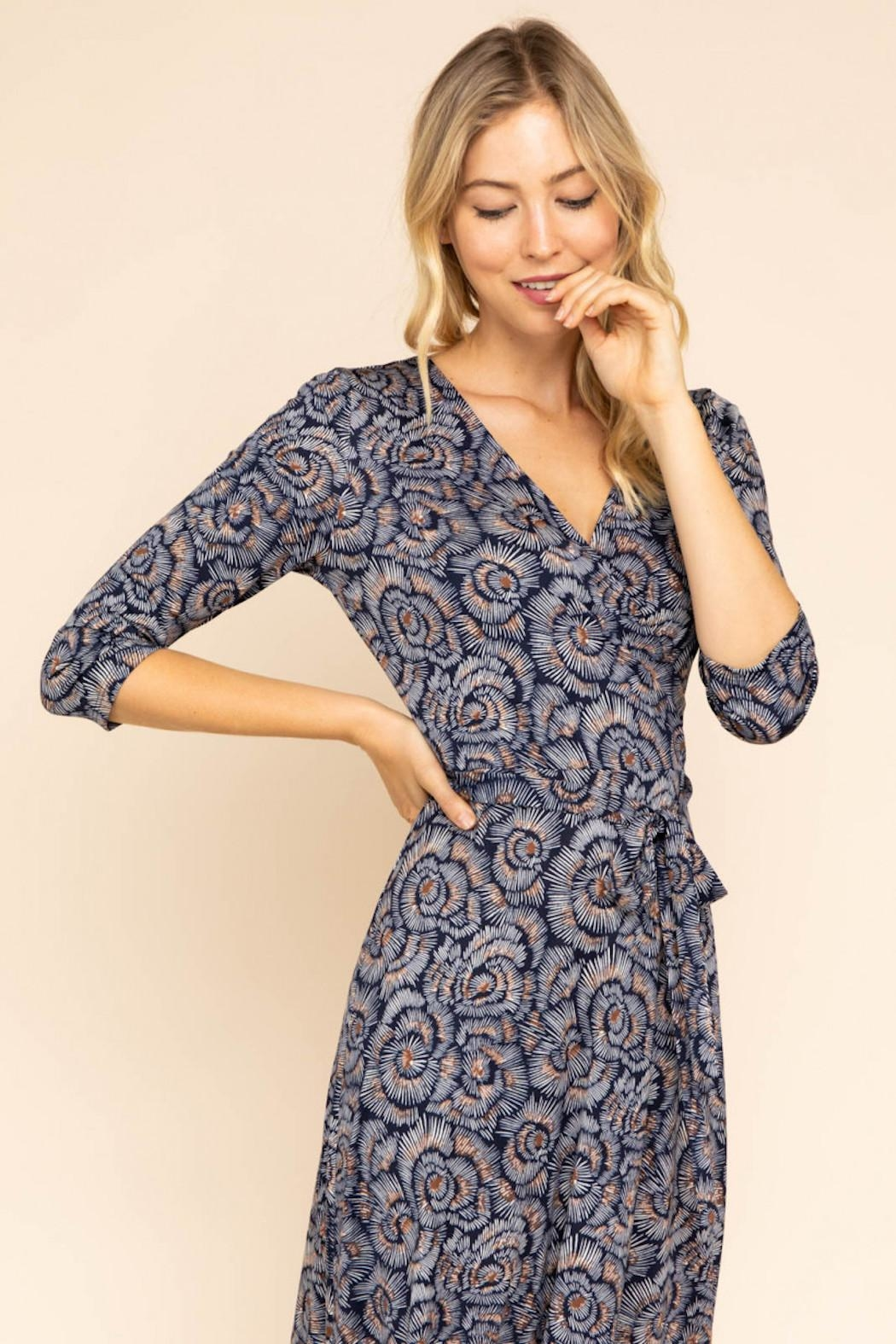 Gilli Maxi Wrap Dress - Side Cropped Image