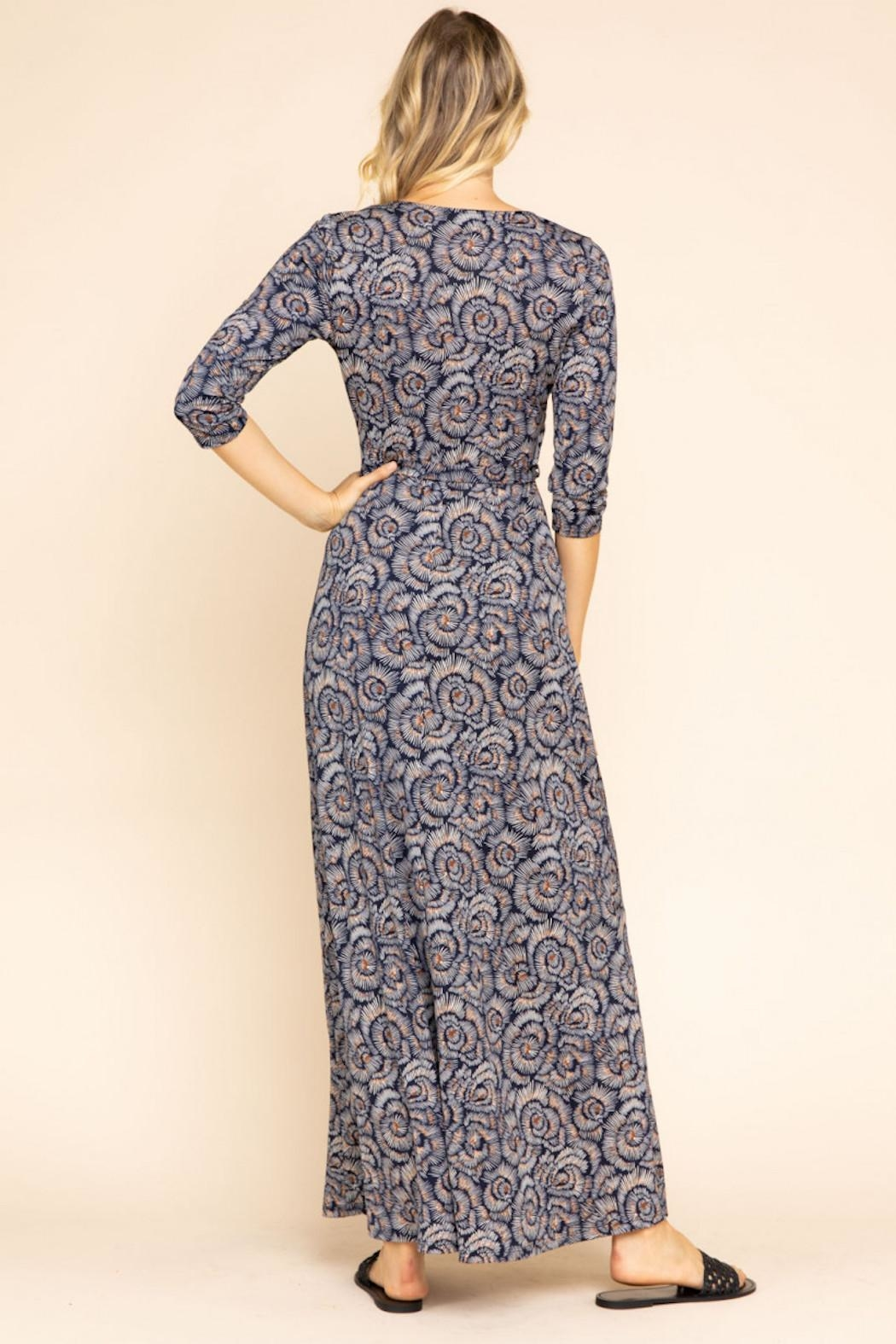 Gilli Maxi Wrap Dress - Back Cropped Image