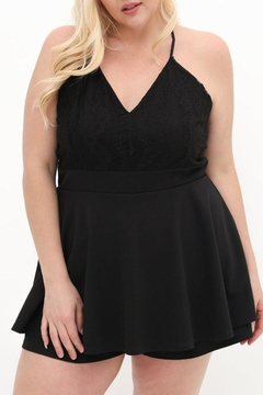 Gilli Midnight Lace Romper - Product List Image