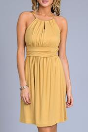 Gilli Mustard Sun Dress - Front cropped
