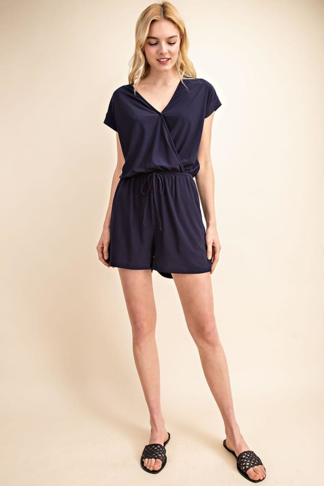 Gilli Navy Must-Have Romper - Front Full Image