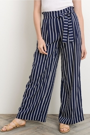 Gilli Navy Striped Pants - Front full body