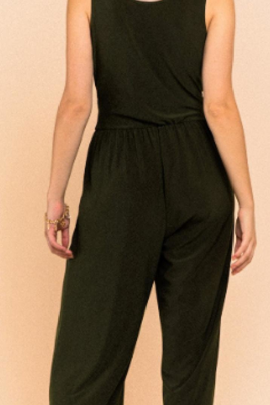 Gilli Perfect Black Jumpsuit - Side Cropped Image